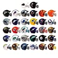Mix of 15 Random NFL Mini Football Helmets with Logo and Mask 2 Inch - 15 Different Teams in Set - Kids Birthday Cake Toppers Boys Superbowl Party Decoration Ornament Favors Vending Machine Lot