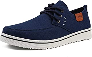 Shoes Comfortable Fashion Sneakers for Men Sports Canvas Skater Shoes Casual Low Top Comfortable Cloth Walking Shoes Lace Up Round Toe Durable Abrasion Resistant Fashion