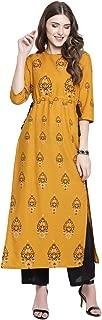SERA Women's Cotton a-line Salwar Suit Set