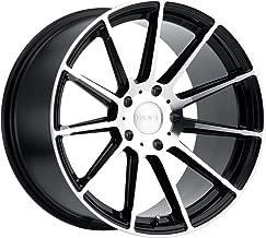 Ruff Racing RS2 Custom Wheel - Gloss Black with Machined Cut Face - 18