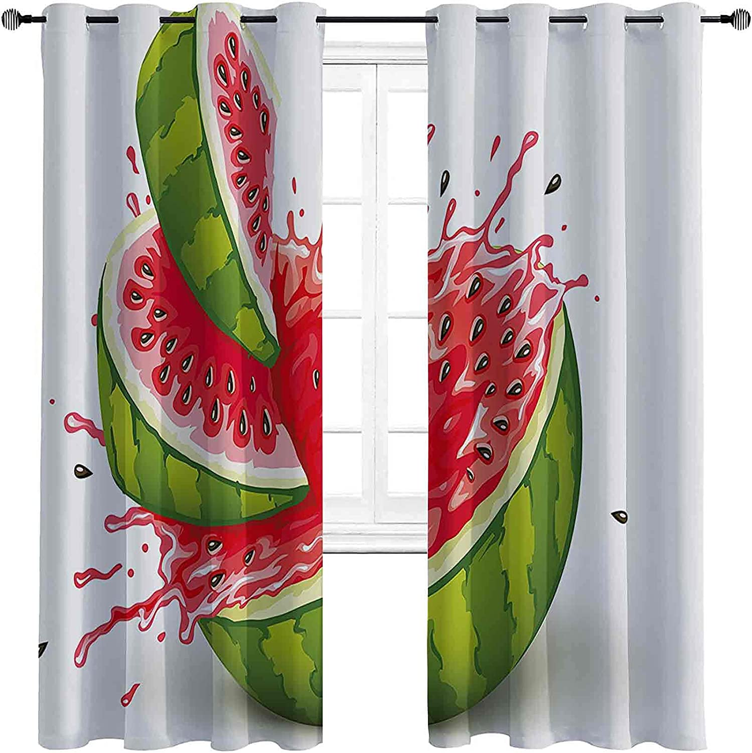 Modern Max 63% OFF Decor 90%-99% Blackout Lining Curtain Ripe Waterme Max 57% OFF Fruit