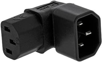 ANRANK IC900092AK IEC C14 to C13 Power Adapter PDU Plug/Socket Up 90 Degree Wall-Mounted LCD TV