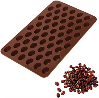 HSada Mini Coffee Beans Chocolate Mold - Silicon Fondant Mold Cake Decorating Tools - Idea for Small Jelly Bean,Pastry,Candy