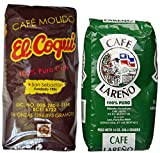 Puerto Rican Ground Coffee Variety Pack (Cafe Lareno And Cafe El Coqui) - 2 Bags Of 14 Ounces Each Includes 2 Envelopes Of Sason Accent