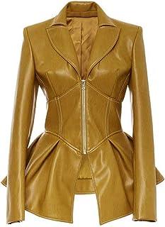 Aogo, giacca da donna, stile retrò, con cerniera a tinta unita, casual, sottile, antivento, a maniche lunghe
