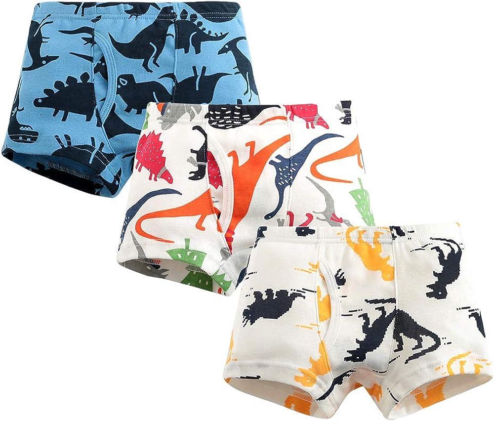 Qingzhuan Calzoncillos para ni/ños Calzoncillos de algod/ón Calzoncillos para ni/ños Calzoncillos de algod/ón Calzoncillos de Dibujos Animados Pantalones para ni/ños de 2 a 9 a/ños