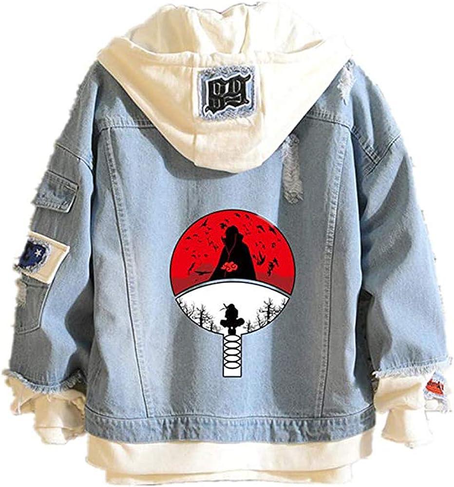 Naruto Uchiha Itachi Hoodie Denim Sweatshi Ranking TOP17 Jacket Anime Akatsuki Bargain