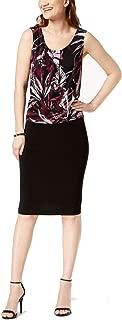 Dress Purple Sheath Abstract Print
