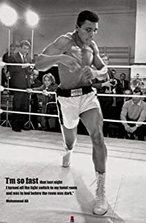 Muhammad Ali I`m So Fast Quote Boxing Sports Poster 24 x 36 inches