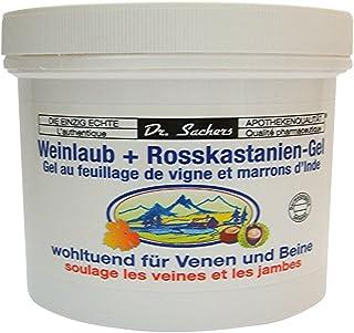 3 Dosen / Tiegel Weinlaub  Roßkastanien Gel