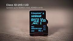 Amazon.com: Kingston Canvas Go! 128GB microSDXC Class 10 ...