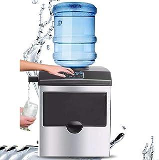 ZJZ Machine à glaçons pour Bar à la Maison, Machine à glaçons avec Robinet d'eau Froide, glaçons prêt en 8-12 Minutes