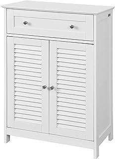 SoBuy szafka łazienkowa z 2 drzwiami szafki łazienkowe Biały FRG238-W