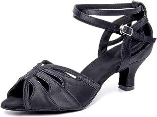 HXYOO Ballroom Dance Shoes for Women Salsa Latin S01