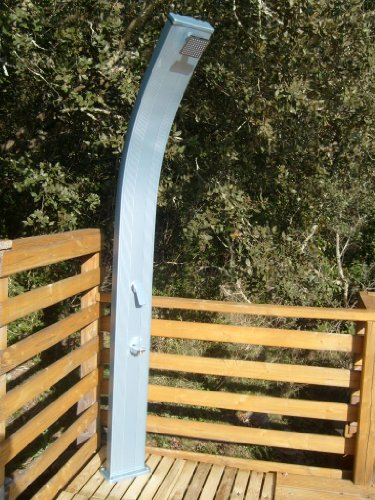 La Boutique de la Pool Solardusche Curbee, Aluminium, silberfarben, Blau, 30 l