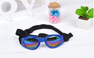 犬用ゴーグル抗UVサングラス折りたたみ式ペット犬用メガネ中型大型犬ペット用メガネペット用メガネ防水 ty3g0h (Color : Blue)