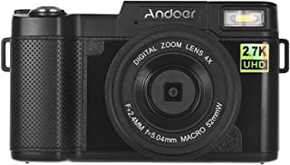 "Andoer Full HD 24MP Digital Camera Cam Camcorder 2.7K Resolution 3.0"" Rotatable TFT Screen Anti-shaking 4X Digital Zoom Wi..."