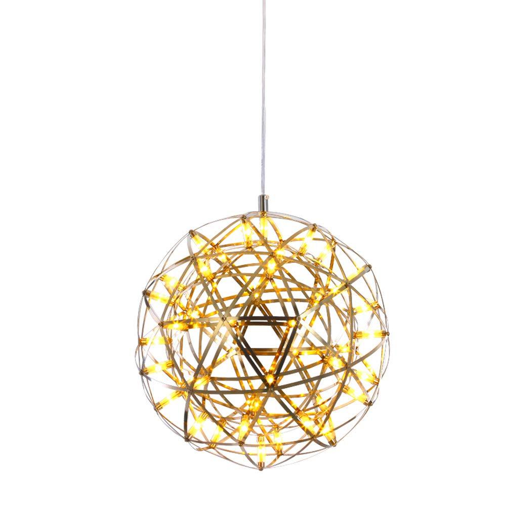 VinDeng Retro Boules Boule dallumage LED Suspension luminaire,18W Feu dartifice M/étal Lustre D/écoration Plafonnier Pour Restaurant Caf/é Bar pub-40cm Blanc Chaud