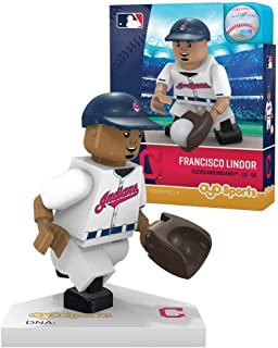 Oyo Sportstoys MLB Milwaukee Brewers Cleveland Indians Francisco Lindor Limited Edition Minifigure, Small, White