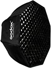 "Godox SB-UE 32""/80cm Umbrella Octagon Softbox Reflector with Honeycomb Grid for Speedlight Flash(Bowens Mount)"