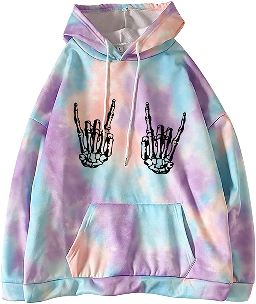 Hoodies for Women Long Sleeve Striped Print Jackets Sweatshirts Fall Casual Pullover Coats