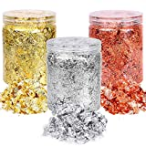 Gold Foil Flakes for Resin Jewelry Making, Paxcoo Gold...