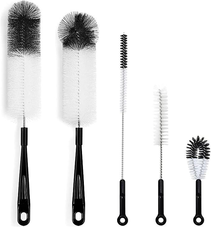 11 opinioni per 5pcs Scovolino Bottiglie, Cleaning Brush Testa ,Biberon e Bottiglie Pulizia Kit
