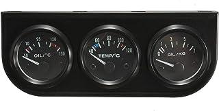 2/52Mm 3 In 1 Voltmeter+Water Thermometer+Oil Pressure Electrical Gauge Kit Volt Meter Or Oil Temperature Gauge Triple Gau...
