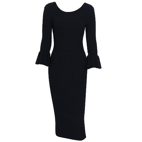 Schwarze Kleider Damen Midi: Amazon.de