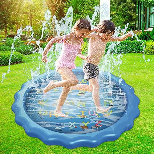 Dsaren 170 cm / 67 podkładka do spryskiwania zraszacz mata do zabawy zraszacz basen lato ogród woda zabawki dzieci dziecko basen podkładka rozpryski dla chłopców dziewcząt psów zwierzęta domowe outdoor zabawki (litter)