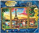 Ravensburger Malen nach Zahlen 28495 - Im Herzen von Paris - Perfektes Malergebnis durch hochwertiges Künstlerzubehör, ohne Rahmen
