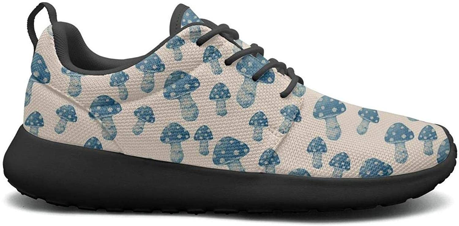 Gjsonmv bluee Mushrooms Shadow mesh Lightweight shoes for Women Comfortable Sports Track Sneakers shoes