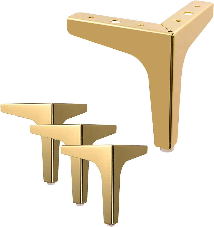 Patas de metal doradas para muebles (18 cm, 4p)