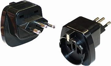 Reisestecker24 - Adaptador de Corriente para Brasil Tipo N (con protección de Contacto)