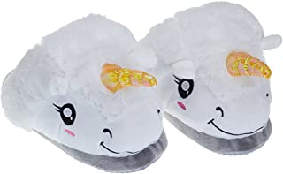 Kids Cute Plush Unicorn House Slippers Anti Slip Loafers