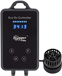 hygger Quiet Magnetic Aquarium Powerhead, 1600GPH DC 12V Wave Maker with Digital Led Display Controller, Submersible Water...