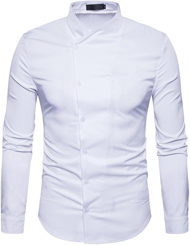 Mnner - Mode lssig Hemd Kragen Hemd Farbe Button Kabel,weie,l