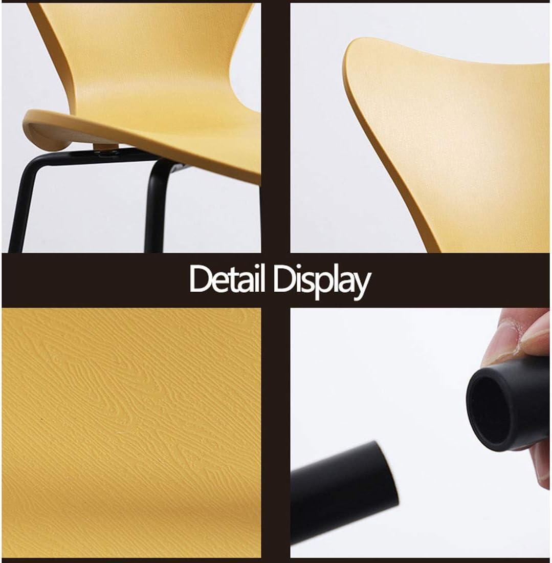 Chaise en plastique moderne Rétro Brown, Bleu, Blanc, Argent, Rose, Vert, Chaise de salle à manger jaune Chaise de bureau Lounge Y1105 (Color : Silver) Green