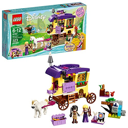 LEGO 6213314 Disney Princess Rapunzel's Traveling Caravan 41157 Building Kit (323 Piece), 5 x 3 x 5, Assorted