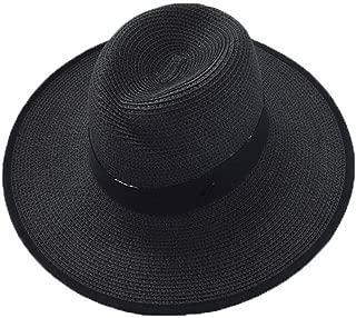 Straw Hat Beach Hat Round Cap Summer Shade Sunscreen Pure Pattern Cap Women, B