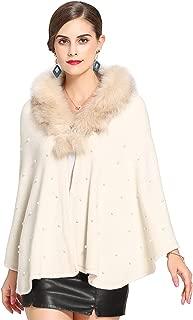 Women's Faux Fur Shawl Wraps Cloak Coat Poncho Shrug Bolero Stoles Cape