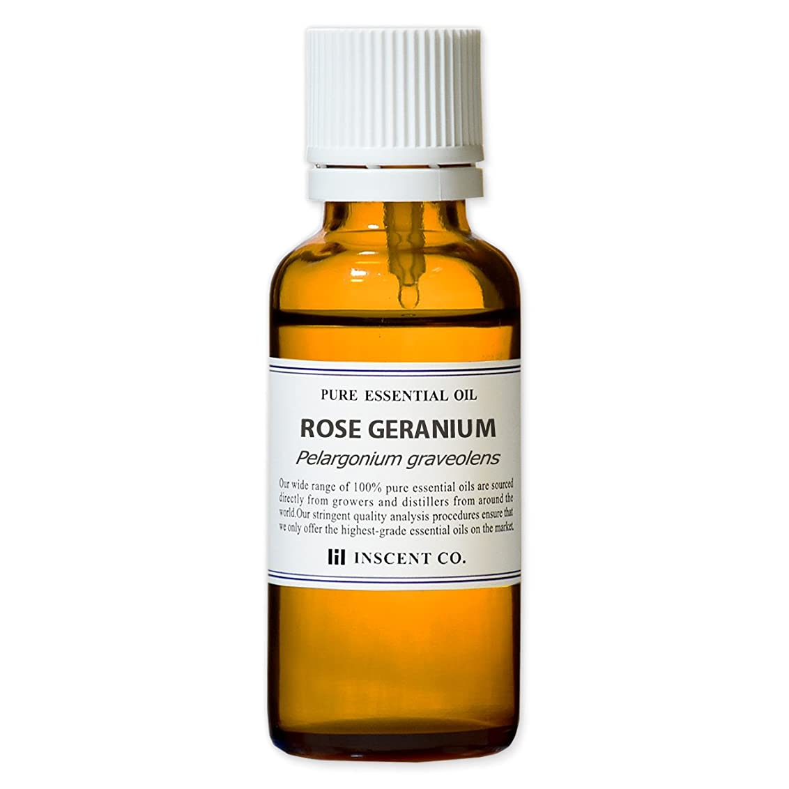 口径滑る不注意ローズゼラニウム 30ml インセント アロマオイル AEAJ 表示基準適合認定精油
