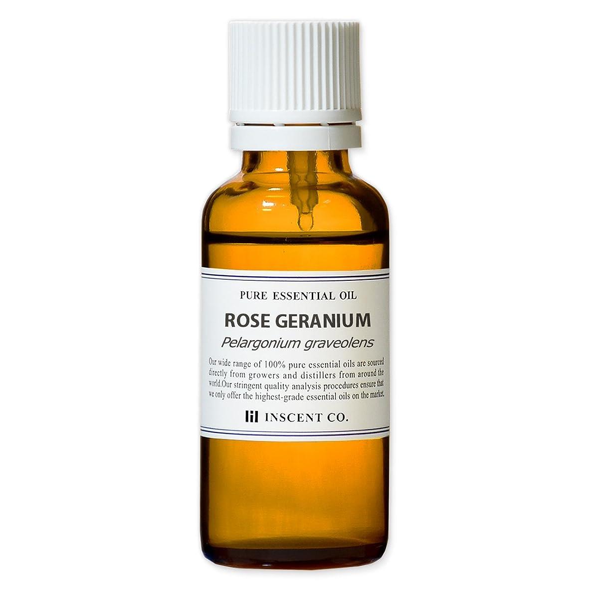 名誉別れる脅迫ローズゼラニウム 30ml インセント アロマオイル AEAJ 表示基準適合認定精油