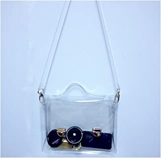 OURBAG Clear Purse Crossbody Messenger Shoulder Bag for Women Chain Strap