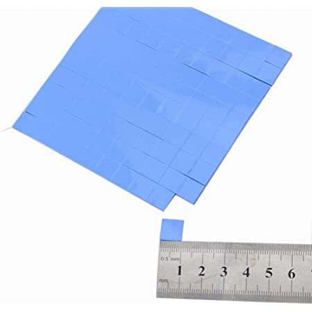 MHUI Thermal Pad Heatsink Cooling Conductive Silicone 10X10mm for Computer Host CPU Thickness 0.5//1mm,Blue,Thick 1mm