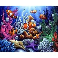 300ピース水中世界絵画子供大人のための木製パズルDIYパズルゲームおもちゃDIY