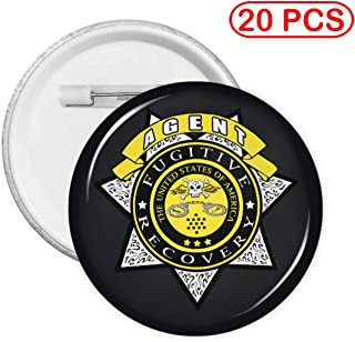 MELISSI Fugitive Recovery Agent Round Badge Button Pin Round Button Badge 20 PCS