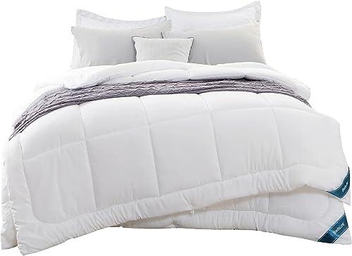 Bedsure Edredón Relleno Nórdico Cama 150 4 Estaciones - Bedding Edredón Reversible Doble 150+300 gr/m² de 240x220 cm ...