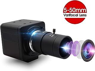 2MP Webcam 5-50mm Varifocal Lens USB Camera HD 1080P High Speed VGA 100fps USB with Camera CMOS OV2710 Sensor Mini Industrial Camera with Aluminum Mini Case Play & Plug Free Drive OTG 2.0 Camera