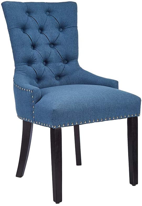 Best for Comfort in Backs: CangLong Modern Elegant Button Tufted Chair.